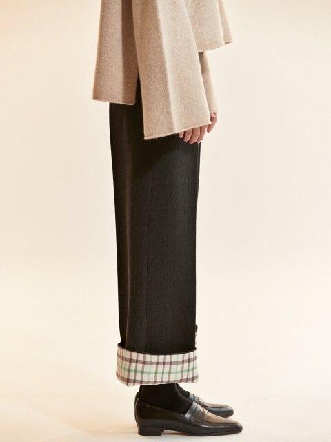 check coloration super wool pants_grey