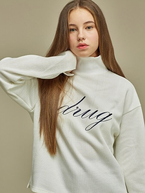 [SALE 60%] DRUG KNIT SWEATSHIRT WH