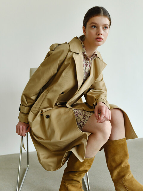MH1 1159 TRENCH RING COAT_BE