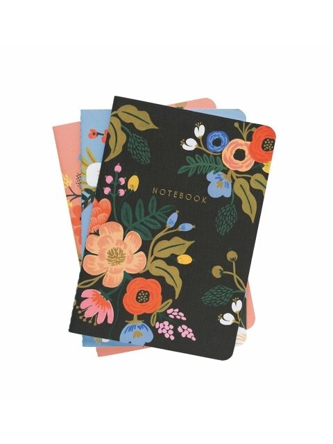Lively Floral Stitched Notebook [3 Set]