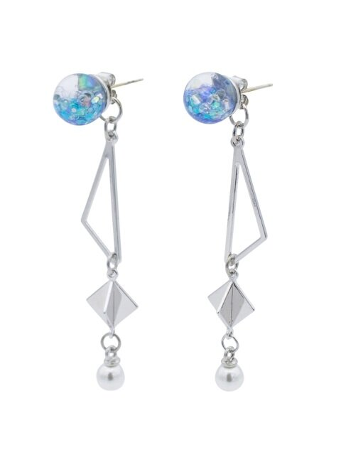 Snowball, Shape Drop Earrings 3