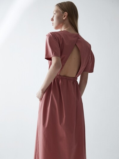 BACKLESS LONG DRESS_PINK