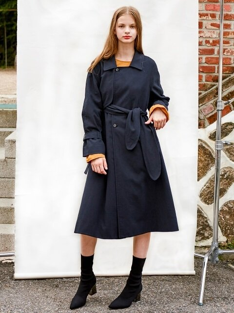 FLYING SOLID TRENCH COAT 40