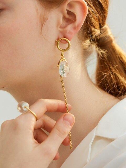 [ME x Mowani] Glass and Chain Single Earring