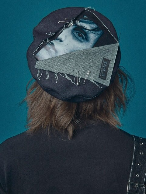 SCISSORHANDS CUTTING BERET [BLACK]