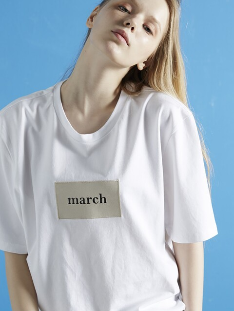 [유아인 착용] [25% SALE] MARCH PATCH 1/2 TEE WH