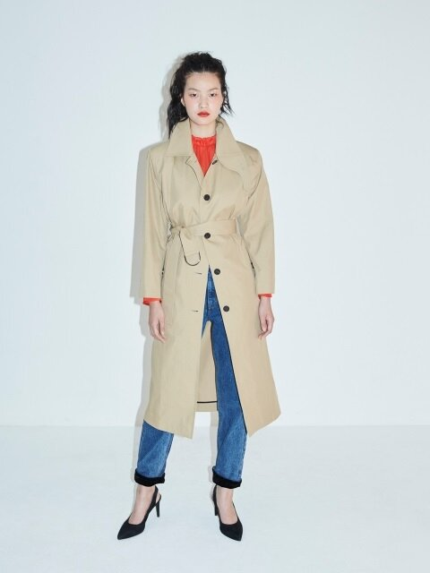 WRAP BELTED TRENCH COAT