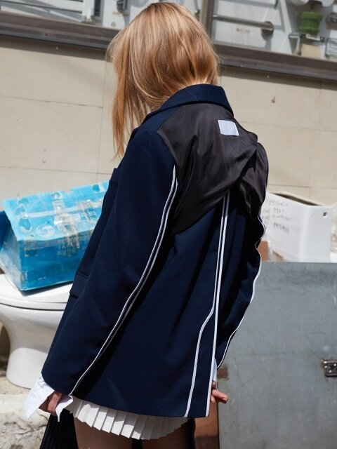 BACK LINING OUT JACKET -NAVY