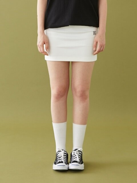 M LOGO MINI SKIRT OFF WHITE
