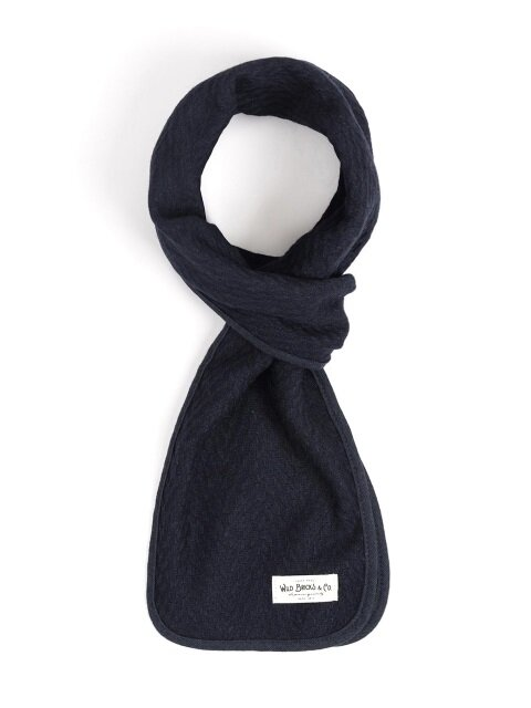 WOOL VIN STOLE (navy)