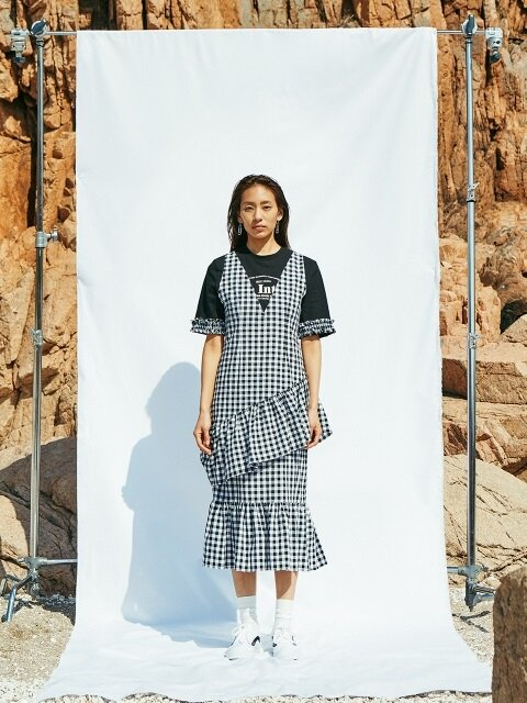 Check Layered Dress_Black