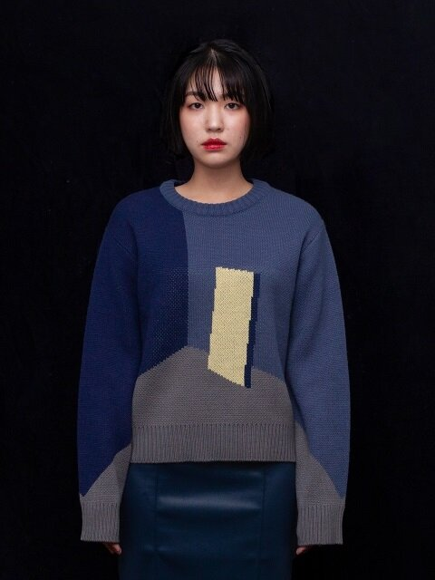 Monologue block knit(B)