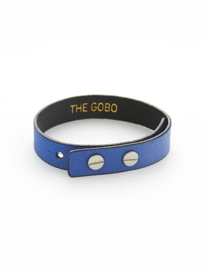 BOTH SIDE LEATHER BRACELET _COBALT BLUE