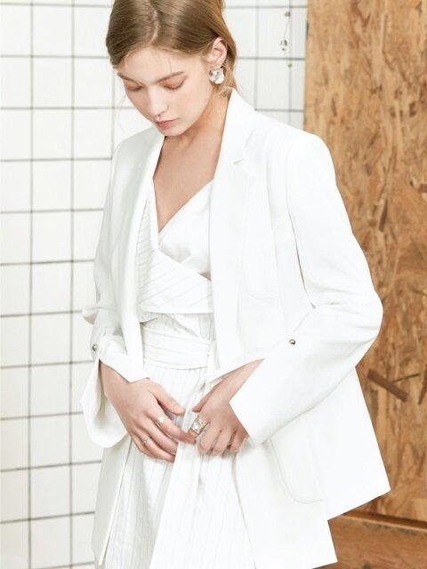 slit unbalance jacket White