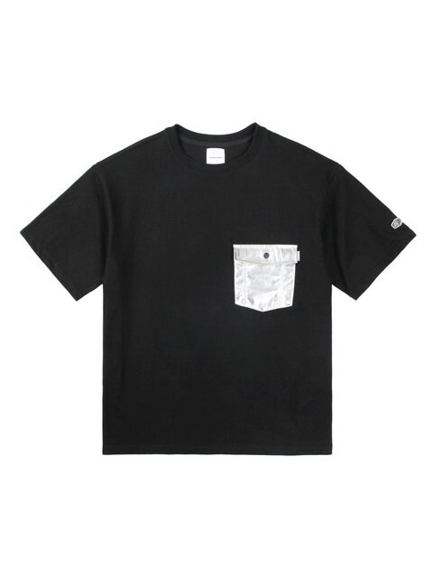 SILVER POCKET S/S TEE BLACK