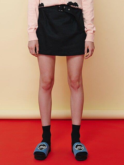 belt mini skirt