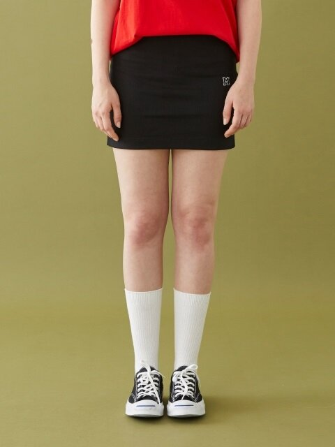 M LOGO MINI SKIRT BLACK