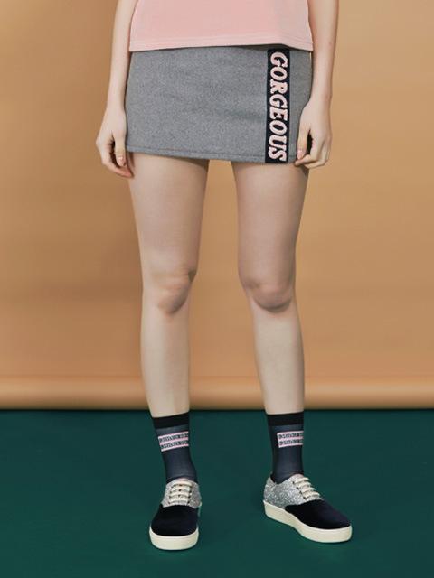 gorgeous mini skirt_gray