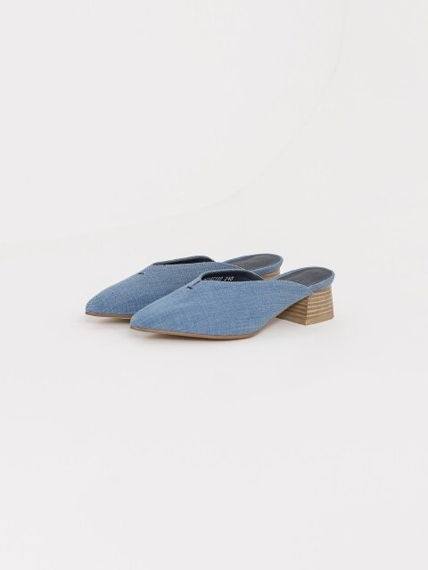 40mm Light Blue Denim Thread Mule (Blue)