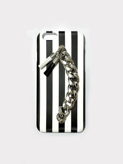 black & white tassel case