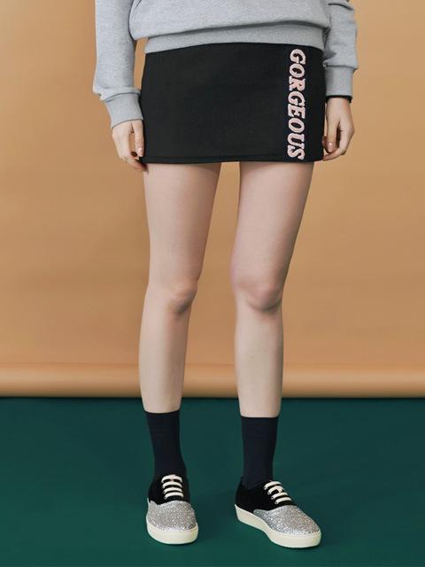 gorgeous mini skirt_black