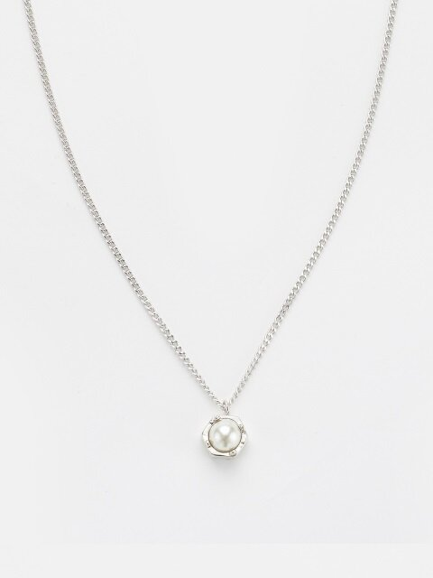 SILVER LIGHT PEARL NECKLACE