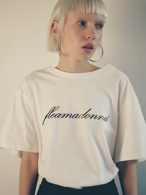 FLEAMADONNA LOGO T-SHIRT(3COLOR)