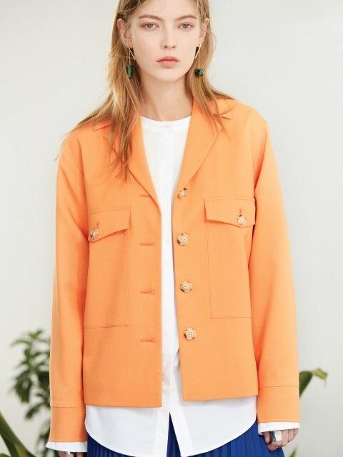 pocket field jacket Orange