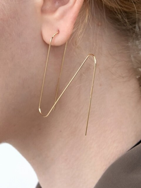 Initial Wire Earrings