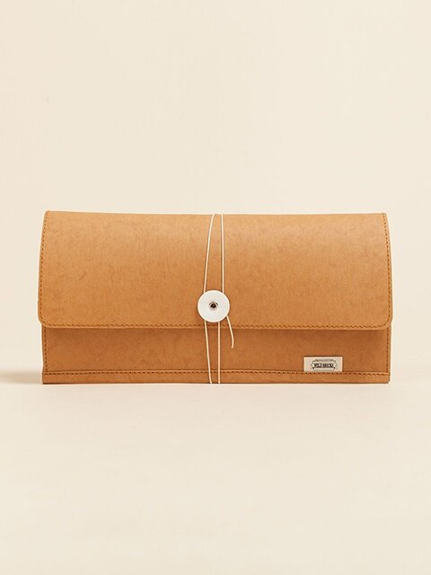PAPER LEATHER CLUTCH BAG (orange)