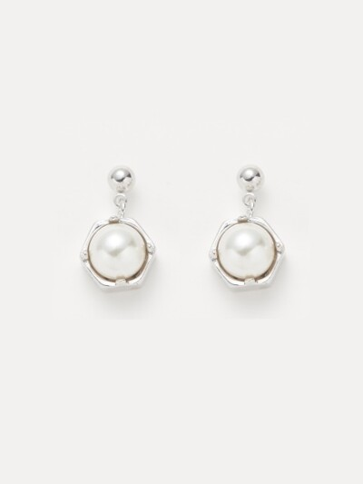 PEARL POINT EARRING_SILVER