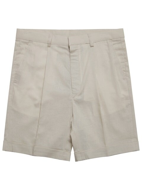 M#1570 linen set-up shorts (ivory)