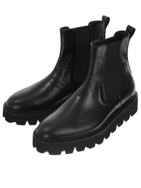 Black Leather Kip Chelsea Boots