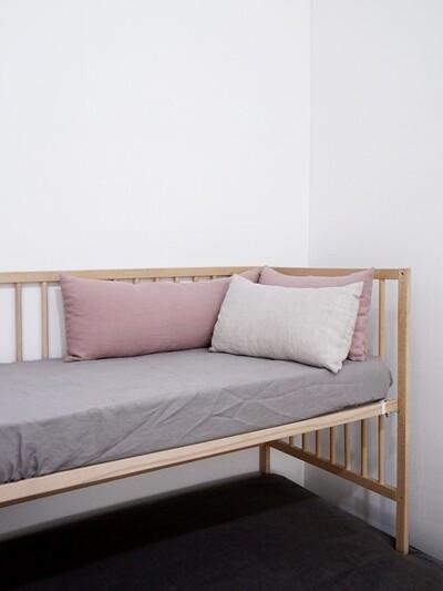 soft linen mattress cover_ light grey