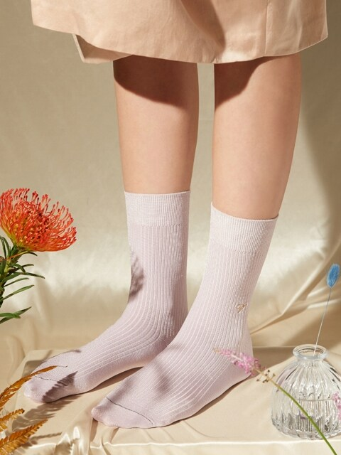 [X VIAPLAIN] silky socks, lavender