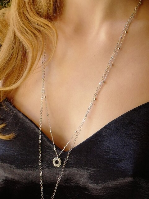 Blooming Pearl Necklace