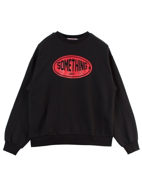 SOMETHING CRACK SWEATSHIRT -BLACK