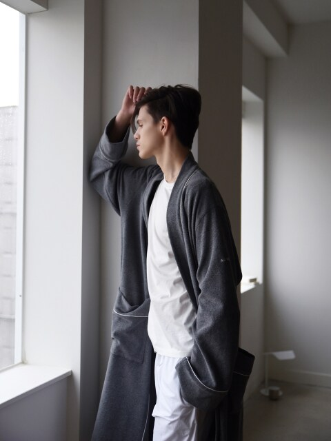 M Terry Lounge & Bath Robe _ Grey