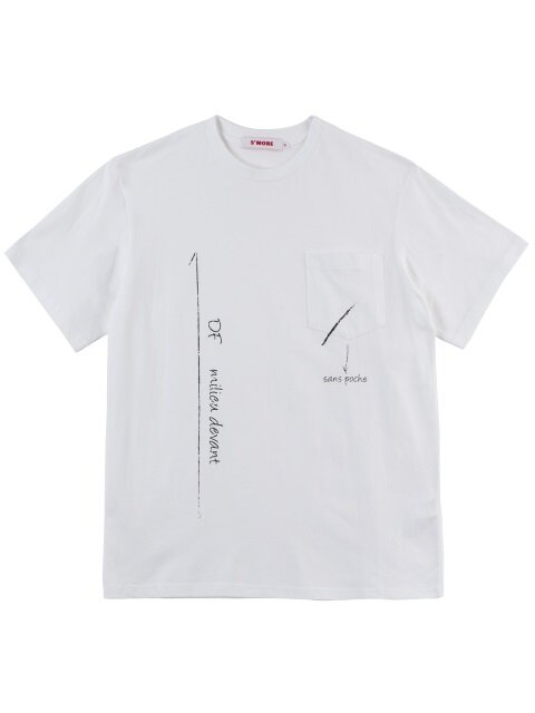 MARKING PRINT T-SHIRTS - WHITE
