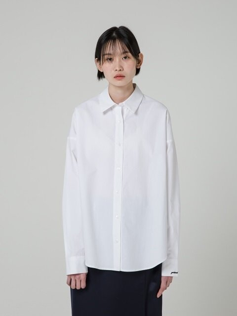 18SS OVER FIT 5BUTTON SHIRT - WHITE
