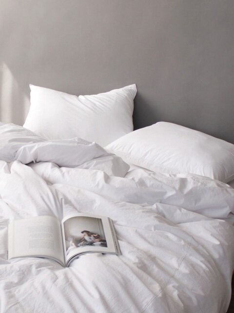 Tranquil white washing bedding set (SS/Q)