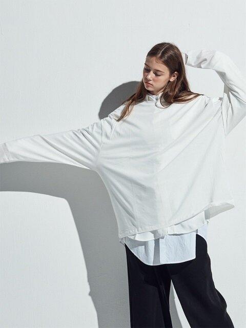 WHITE highneck T-shirts(CT009)