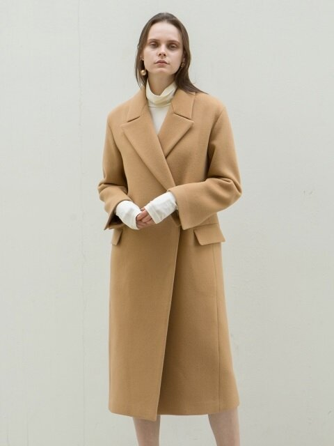 [단독][CASHMERE 10%] 17FW PEAKED COLLAR LONG COAT