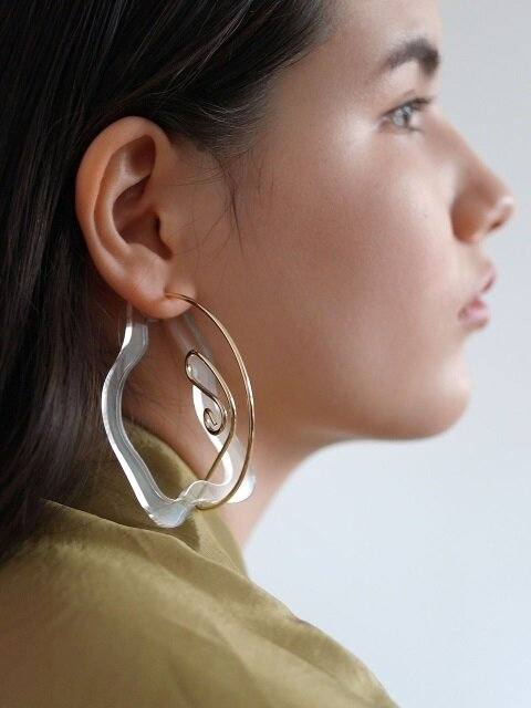 Wave cuff earrings