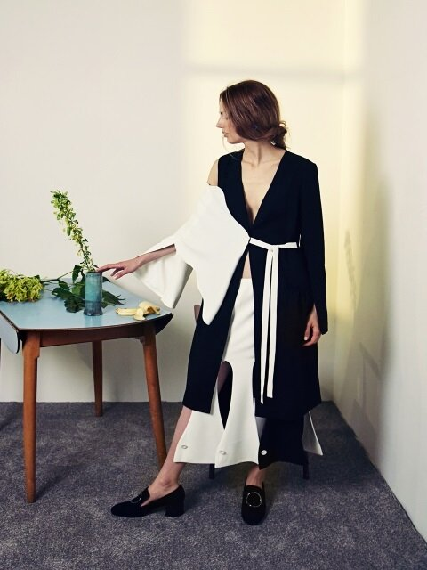 Wave Long Linen Jacket