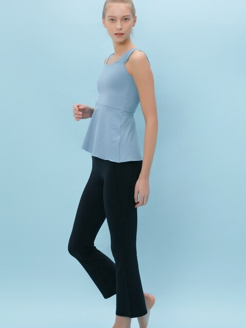 Comfort flared leggings_BLACK