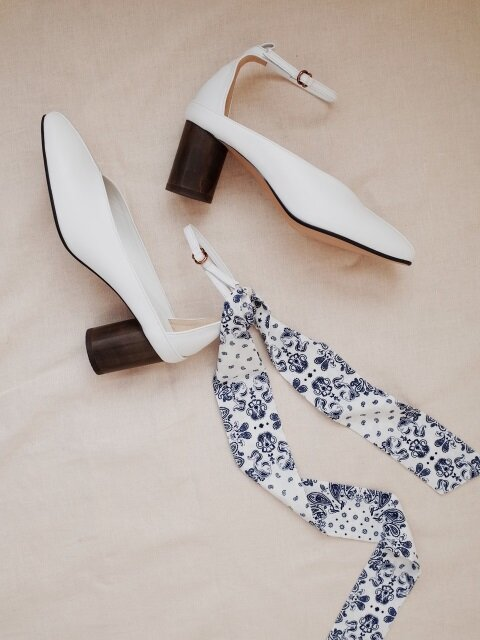 double ring ankle strap White