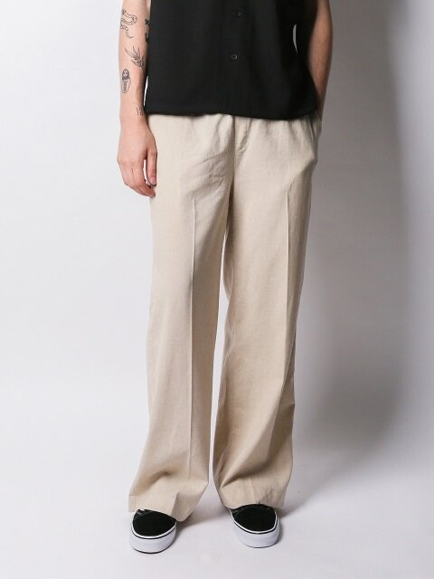 Air Long Wide Linen Pant (Beige)
