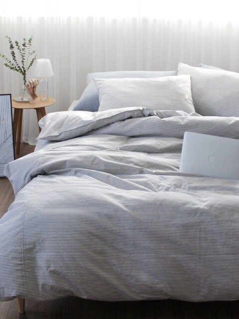 Flat stripe bedding set (SS/Q)