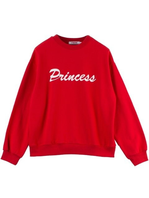 PRINCESS PRINT SWEATSHIRT - RED